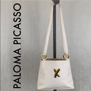👑 PALOMA PICASSO LEATHER SHOULDER/ CROSSBODY BAG